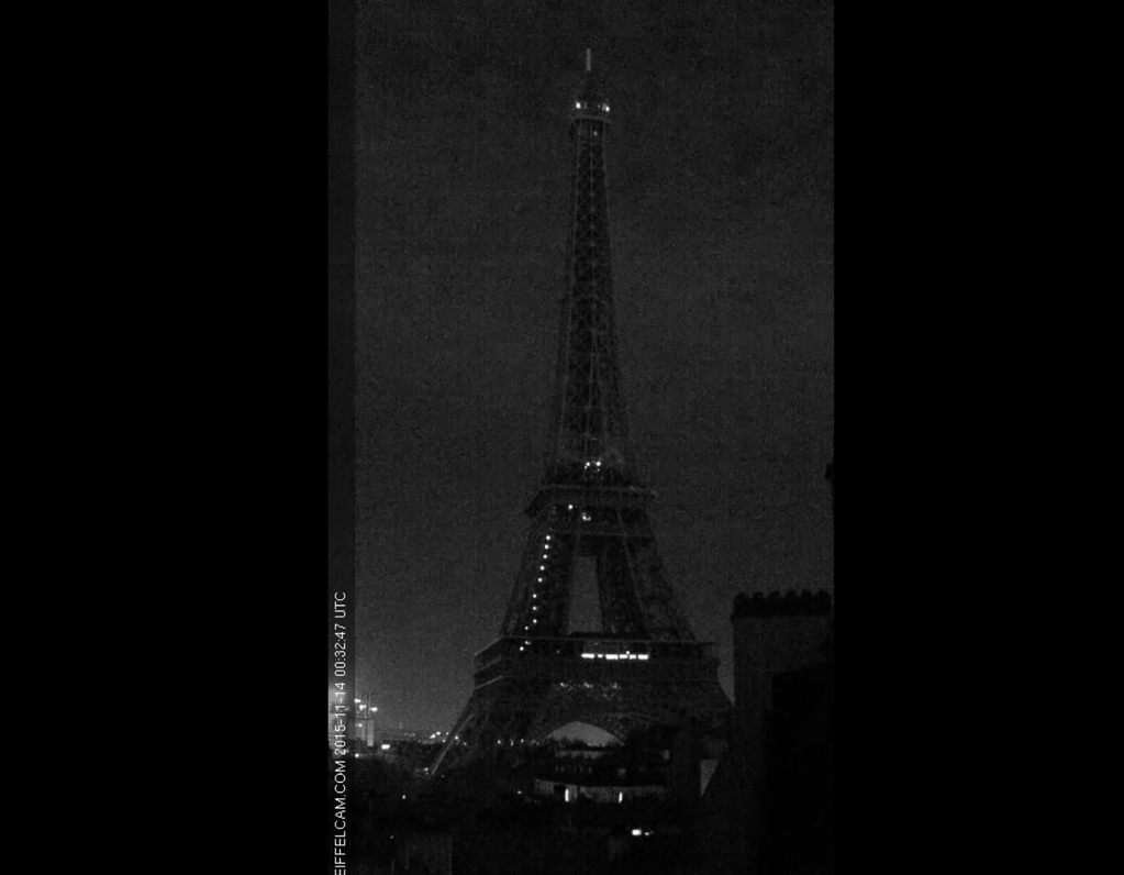 dark eiffel tower
