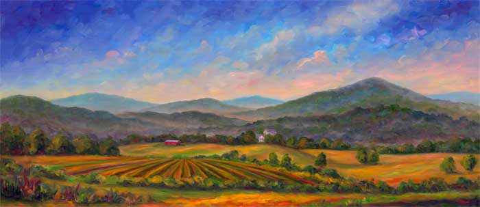 Mills_river_Farm-panorama-painting